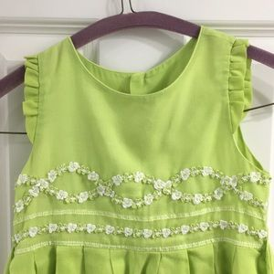 Luli Me size 5 Green with embellishments dress